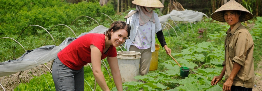 Australian volunteer Tamara Baillie worked as a business development officer with the Thanh Xuan Organic project in Vietnam, 2010. Photo: Tamara Baillie / AusAID